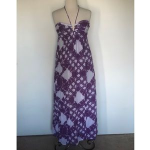 BCBGeneration Ikat Halter Maxi Dress